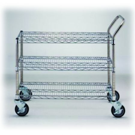 WIRE SHELVES AND UTILITY CARTS